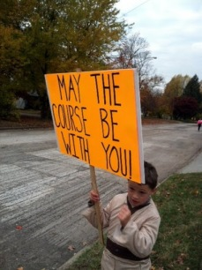 One of the best signs I saw during my first half marathon - Nov 2011