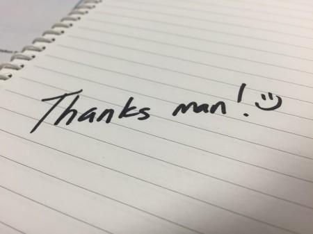 thanks man